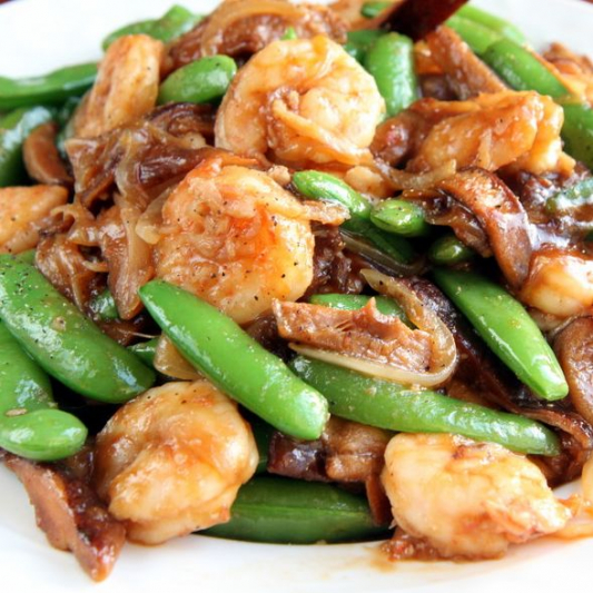 S5. Sauteed Seafood with Snow Peas