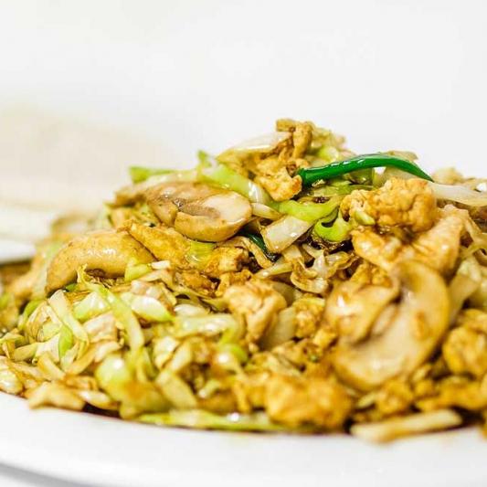 F2. Mu-Shu Pork Chow Mein