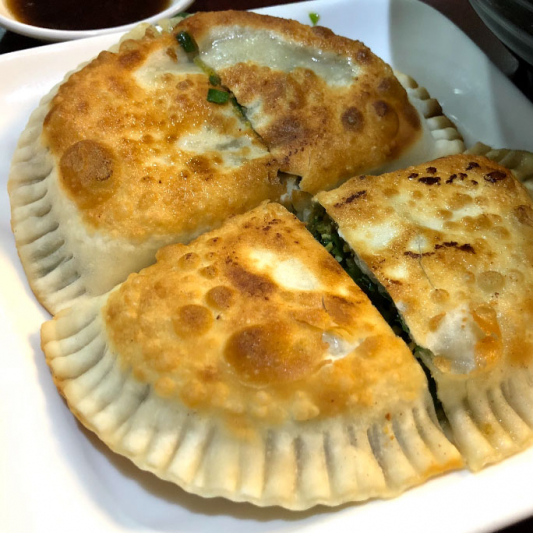 D12. Pan Fried Chive Pockets