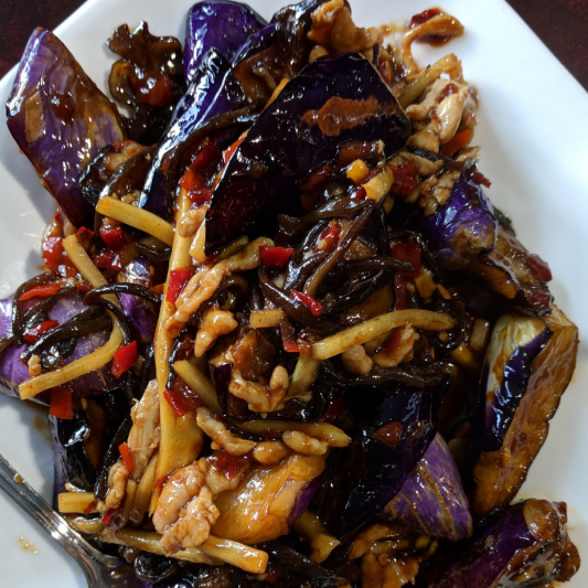 V7. Chilli Garlic Eggplant