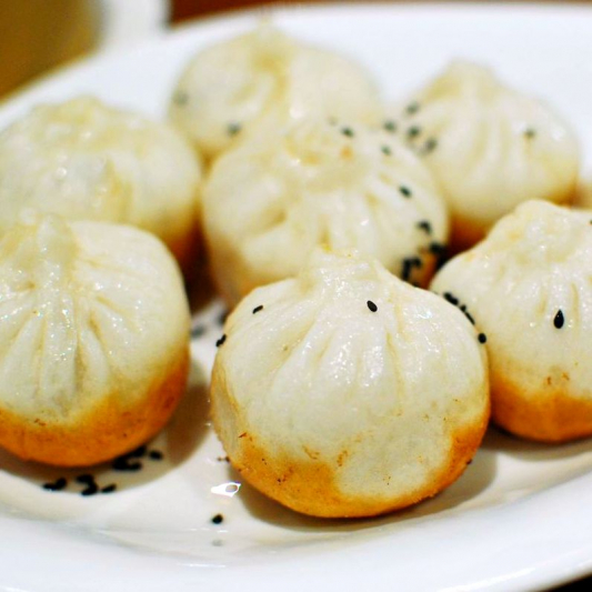 D3. Pan Fried Pork Buns