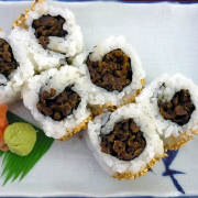 Beef Teriyaki Assorted Sushi & 3 California Roll