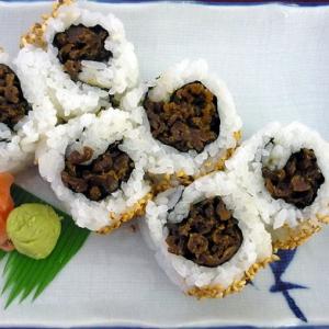 Beef Teriyaki Assorted Sushi & 3 California Roll