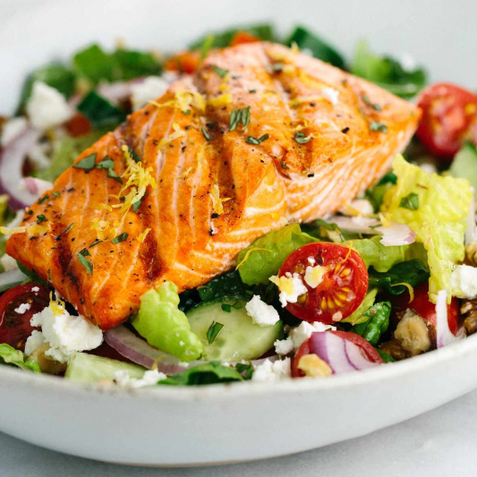 4 Salmon Fish Salad