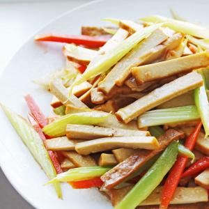V8. Stir Fried Dried Bean Curd with Celery
