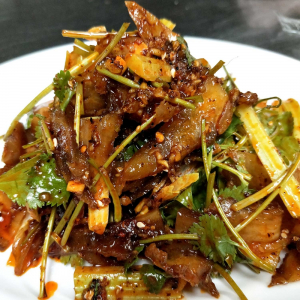 A13. Szechuan Style Spicy Beef Tendon