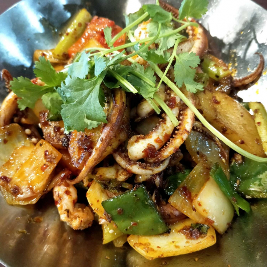 T11. Griddle Spicy Squid Tentacles