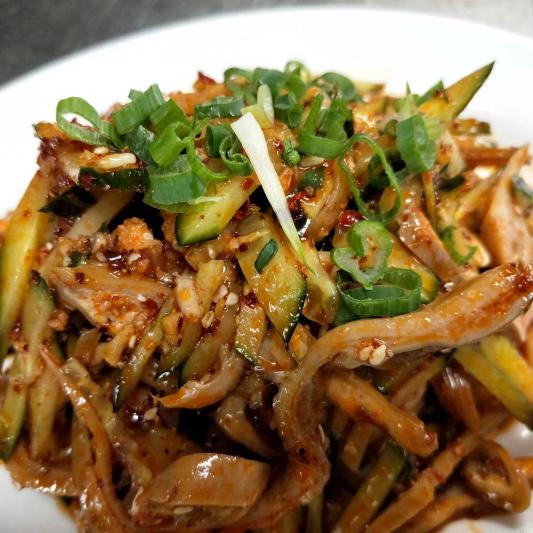 A6. SpicyPork Tripe in Spicy Garlic Sauce