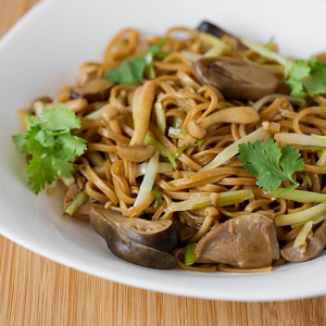 115. Pan-Fried Yee Mein with Shredded Chinese Mushroom