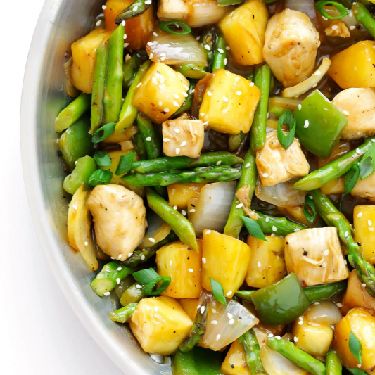 207. Sauteed Chicken with Ginger and Pineapple