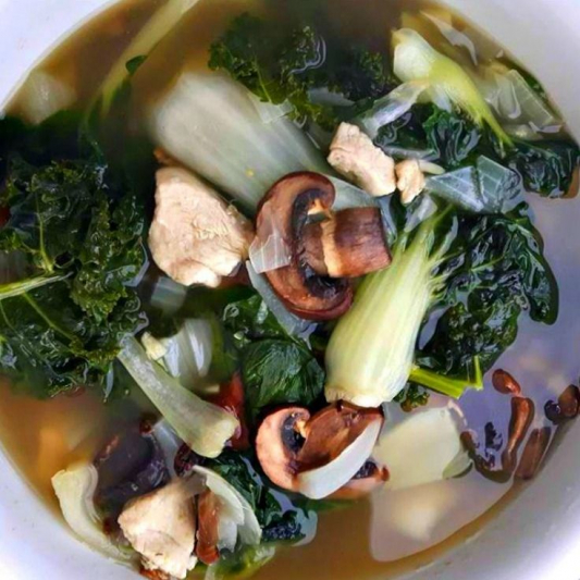 229. Baby Bok Choy in Supreme Consomme