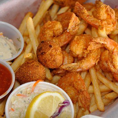 Shrimp in a Basket