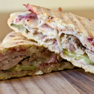* Chicken * Ham * Turkey * Roast Beef 	Paninis