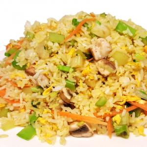 R7. Vegetarian Fried Rice (with Chopped Veggies)