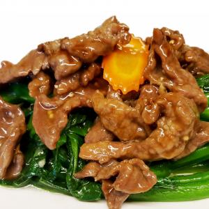 B9 Sliced Beef with Gai Lan