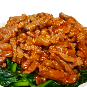 B12 Beef in Chili & Garlic Sauce with Spinach