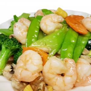 F13 Sauteed Prawns with Mixed Vegetables