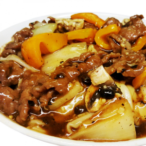 M24 Fried Rice Noodle with Beef in Black Bean Sauce