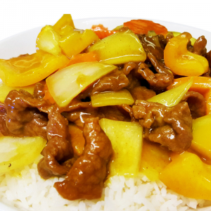 O7. Beef in Curry Sauce