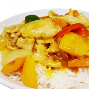 O8 Chicken in Curry Sauce