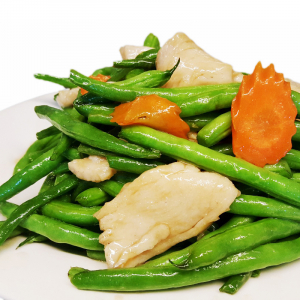 C8. Sliced Chicken with Green Beans