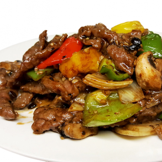 B5 Sliced Beef in Black Bean Sauce