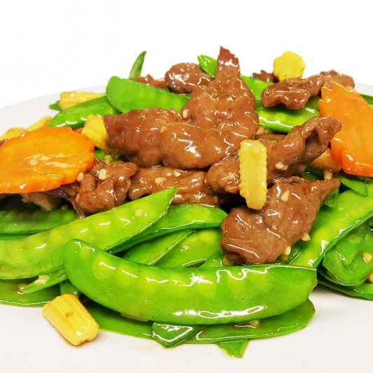 B8 Sliced Beef with Snow Peas