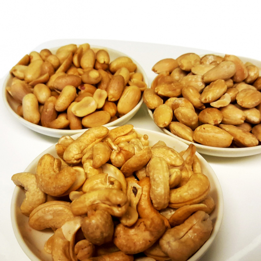 X3 Cashews, Almonds, Peanuts