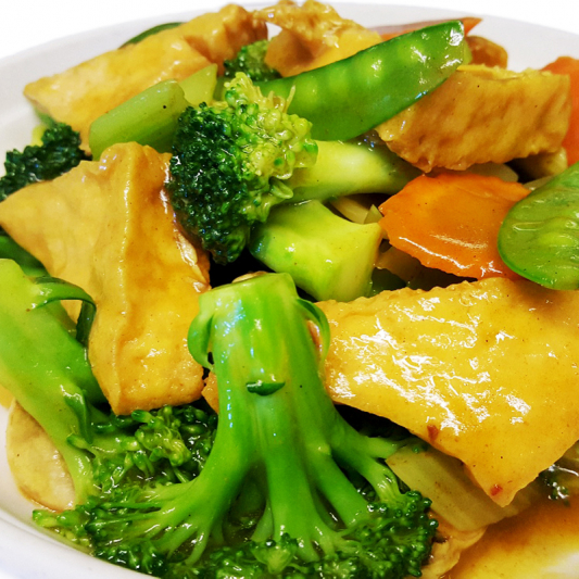 V7 Vegetables with Tofu in Curry Sauce