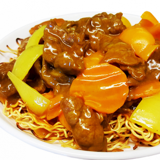 M12 Curried Sliced Beef Chow Mein