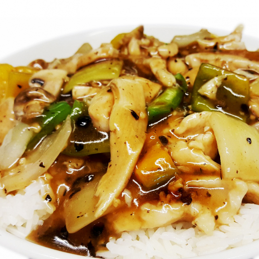 O2 Chicken in Black Bean Sauce
