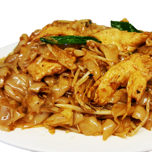 M21. Fried Rice Noodle with Chicken