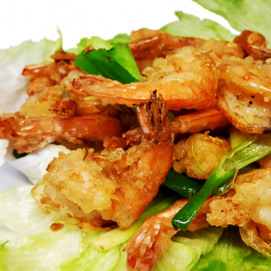 F9 Prawns in Shell with Green Onion