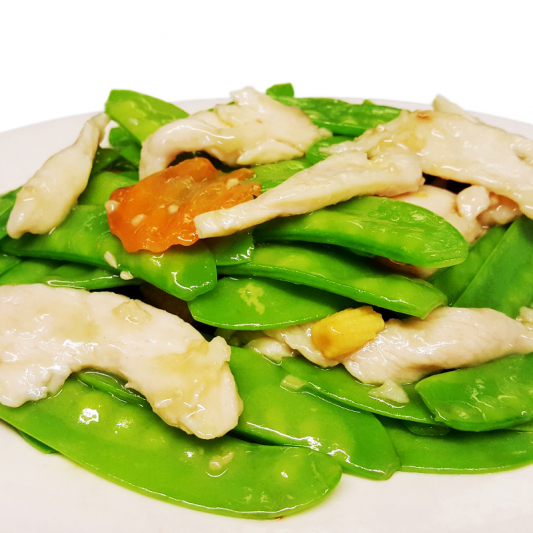 C6. Sliced Chicken with Snow Peas