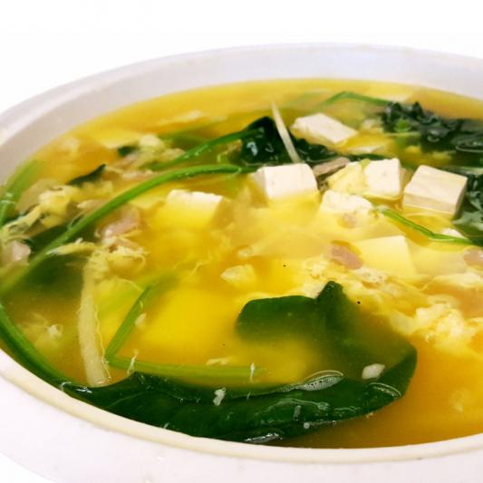 S5 Pork, Spinach & Bean Curd Soup