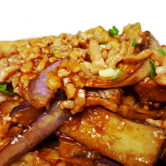 P15 Szechuan Spicy Eggplant with Pork