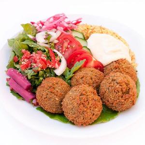 #12 Falafel Platter (4 pcs)