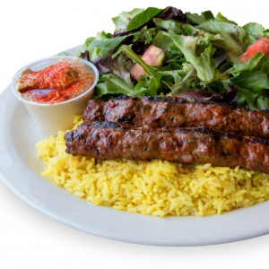#07 Kafta Kabab Platter