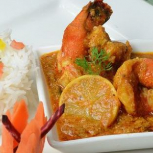 Shrimp Curry Lunch Plate