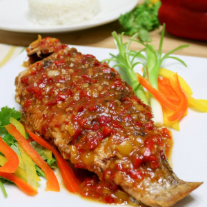 Fish Chilli with Hot Garlic Sauce
