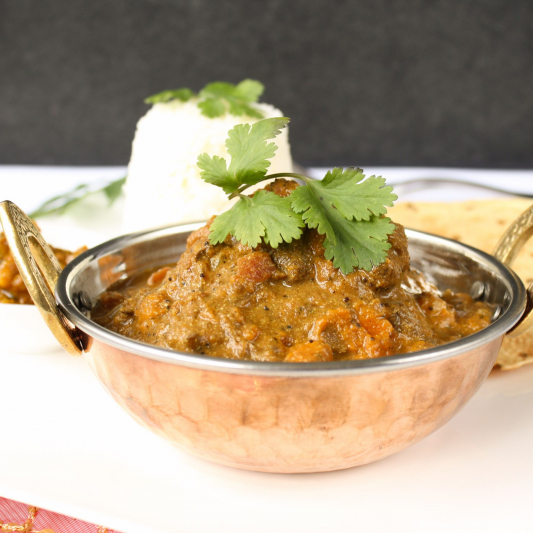 Lamb Curry Lunch Plate