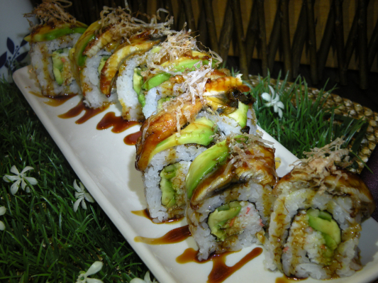 Dragon Roll (8 pcs)
