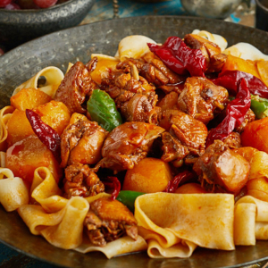 XinJiang Style Braised Chicken with Noodle