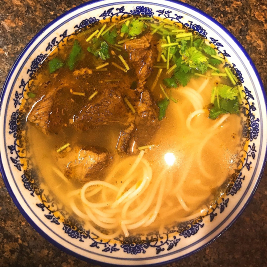 Braised Beef Rice Noodle in Soup