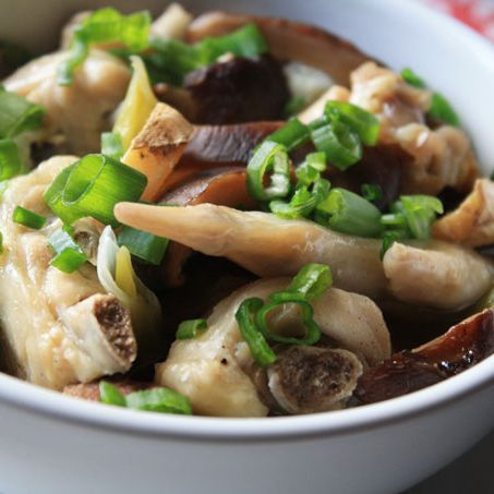 A13. Steam Chicken with Mushrooms