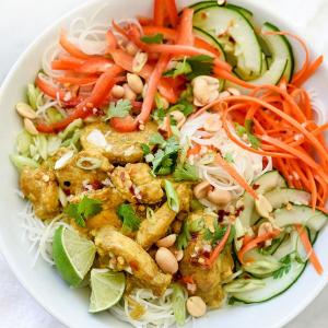 92 Vegetarian Vermicelli Salad Bowl