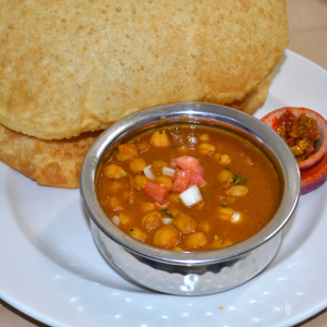 Aloo Kulcha with Chana Masala