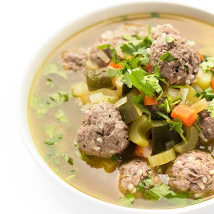 Bowl Beef Balls in Soup