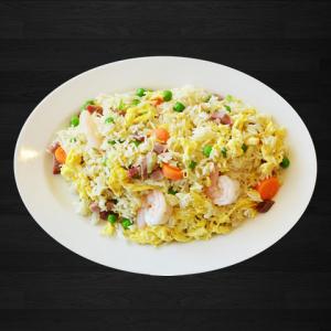 55. Chicken, Pork Fried Rice