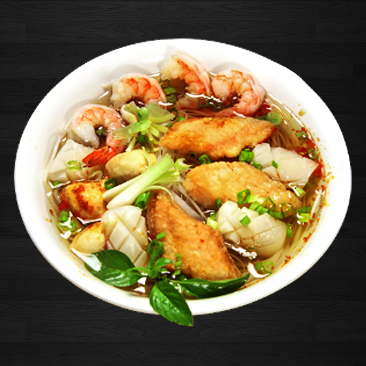 27. Seafood Noodle In Soup (Spicy)